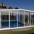 Cubierta telescópica piscina