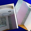 decoracion de dormitorio combinando pintura con empapelado