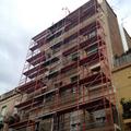 Desmontaje andamio tubular fachada