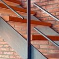 Detalle escalera forja
