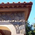 detalle forro piedra Binissalem y piedra en tejado