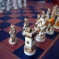 Detalle mesa de ajedrez