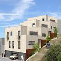 Diseño de fotomontage para proyecto de 3 viviendas unifamiliares en hilera