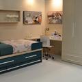 dormitorio juvenil con textil a conjunto