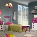 Dormitorio Juvenil / Infantil CUORE con cabecero de cama en forja