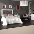 Dormitorio MARSELLA con cabecero de cam de madera y tapizado