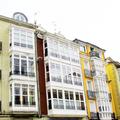 edificio con galería típico de Vitoria-Gasteiz