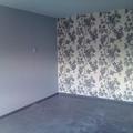 empapelado, con pared en tono gris