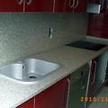 Encimera cocina en granito blanco cristal 3 cm.