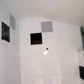 Enyesar techo de lavabo.