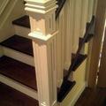 Escalera completa en Roble teñido y laca.