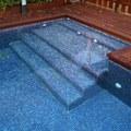 Escalera de obra piscina