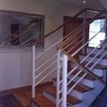 Escalera mixta hierro e madera