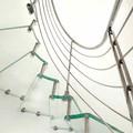 Escaleras acero-vídrio