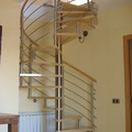 Escaleras combinado madera y acero inoxidable