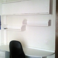 Escritorio y estanterias para dormitorio juvenil