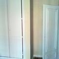 Esmaltado de armario, puerta y rodapie en blanco satinado