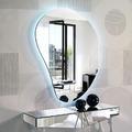 Espejo decorativo con luz de led