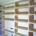 estanterias con terminacion de pintura
