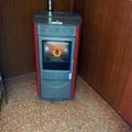 Estufa instalada en bar en Toledo