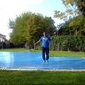 fabricación cubiertas de piscinas lona super pvc bicolor