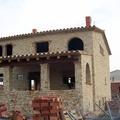 Fachada trasera casa de piedra, Obra nueva