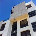 Fijación piezas de la fachada en Paseo del Progreso