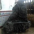 fuente de piedra rustica