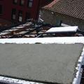 Hormigonado de la cubierta sobre placa de porexpan