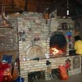 Horno y chimenea tras reparación y restauración