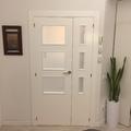 Puerta vidriera doble para salon