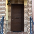 Puerta lamas horizontales