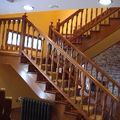 Escalera para casa rústica