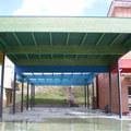 Cubierta de patio de colegio, Villanueva de Valdegovía, Alava.