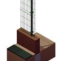Infografía de detalle de sección-tipo de vallado de parcela