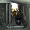 Instalación de tubería helicoidal en el interior de patio