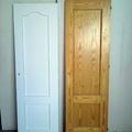 lacado de puerta de pino en blanco