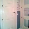 Lacado de puertas en blanco.