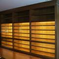 Libreria en madera de roble para exposicion