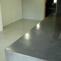Local comercial, Barra, Solados y Baños en cemento Pulido