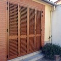 Mallorquina de Aluminio color roble