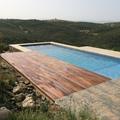 Solarium de Madera natural piscina