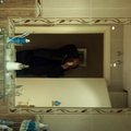 marco de cenefa de obra con espejo encastrado
