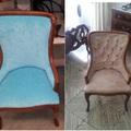 Marquesita antes y después de su tapizado.