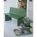 microcemento apliacion en banco de mobiliario