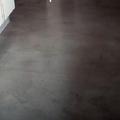 microcemento en el  suelo de una cocina
