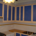 Mobiliario de cocina y electrodomésticos.