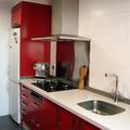 Mobiliario polilaminado rojo satinado