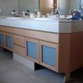 Mueble de baño a medida Haya Vaporizada