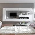 Mueble modular lacado blanco.